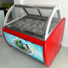 Green&Health Refrigeration Gelato Display Case Ice Cream Showcase / Freezer / Cabinet
