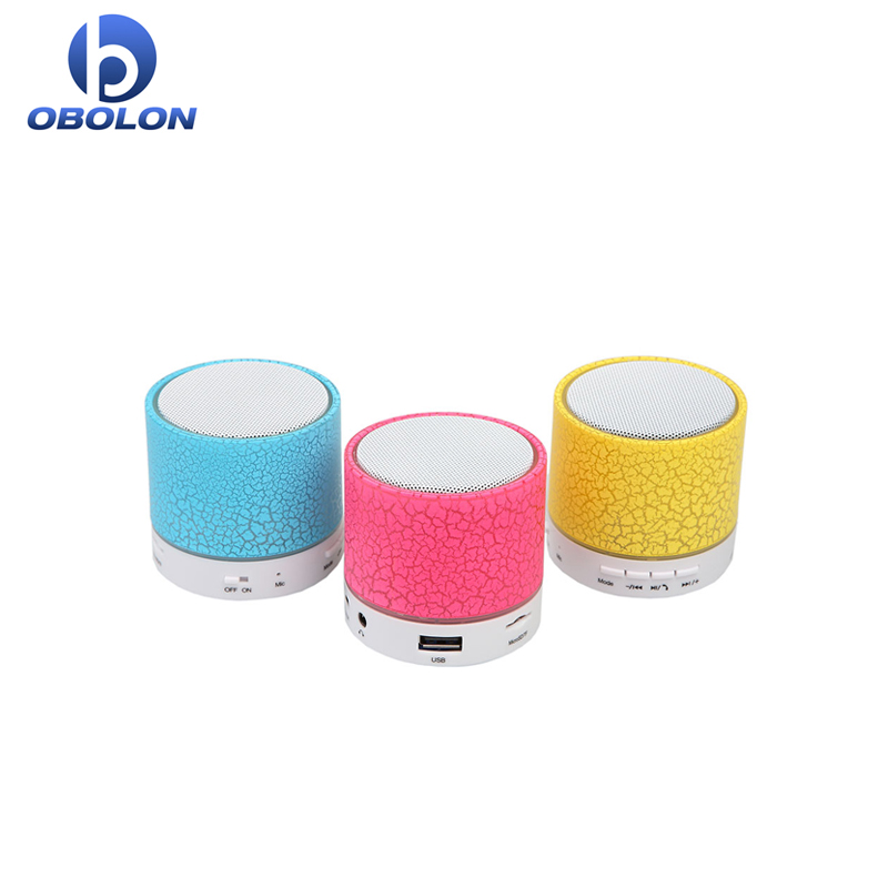 Night Light LED USB FM Color Loudspeakers Portable Box Subwoofer Support TF Wireless Bluetooth Speaker