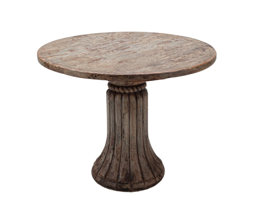 Country style furniture hand crafted round dining table