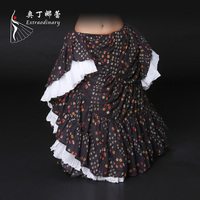 ATS Belly Dance Performance floral long skirt
