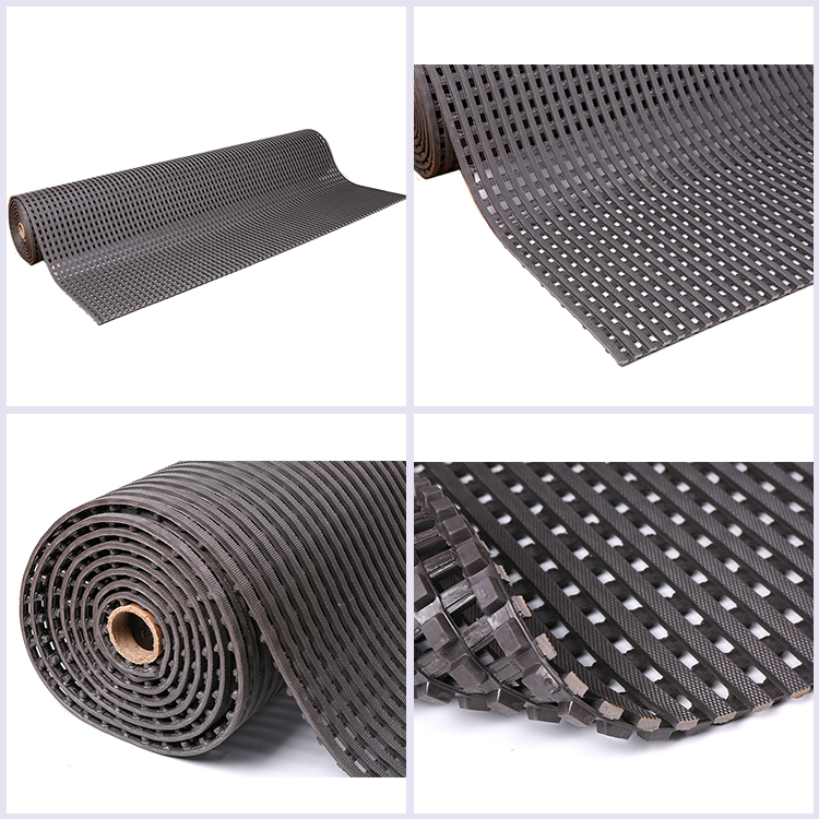 China factory wholesale high quality pvc water drainage anti slip swimming pool mat roll