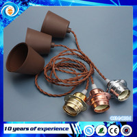 Rose Gold Silver Aluminum Edison Retro Vintage Light Ceiling Pendant Contemporary Lamp Holder E27 With 1M Wire