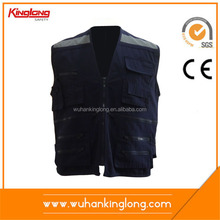 New design canvas black mesh military vest with pockets