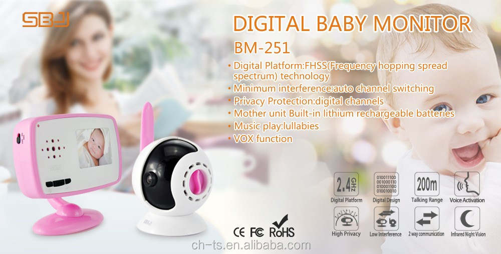 2.4inch digital portable wireless long range ptt walkie video phone baby camera monitor