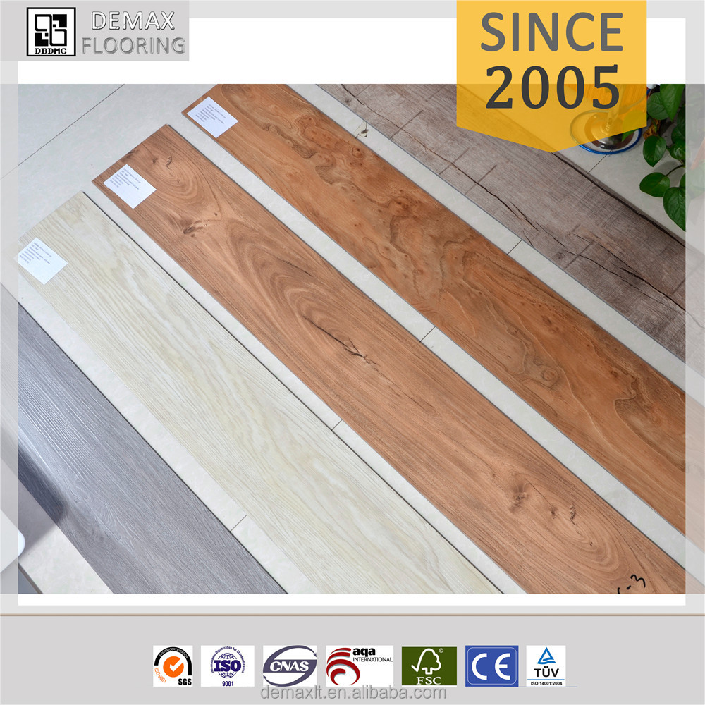 Commercial Vinyl Wood Flooring/vinyl Pvc Flooring Tile /unilin Click/loose Lay