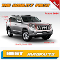 New arrival Toyota land cruiser Prado 2014 tail light front grill headlight