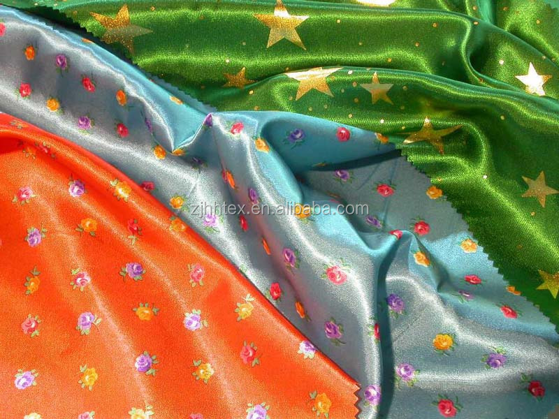 Good quality 100% polyester satin fabric with dyed colors from china manufacturer