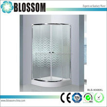 Indoor cheap portable bathroom shower glass cubicle sizes