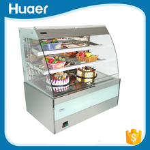 China factory commercial showcase pastry display cabinet showcase cake display freezer