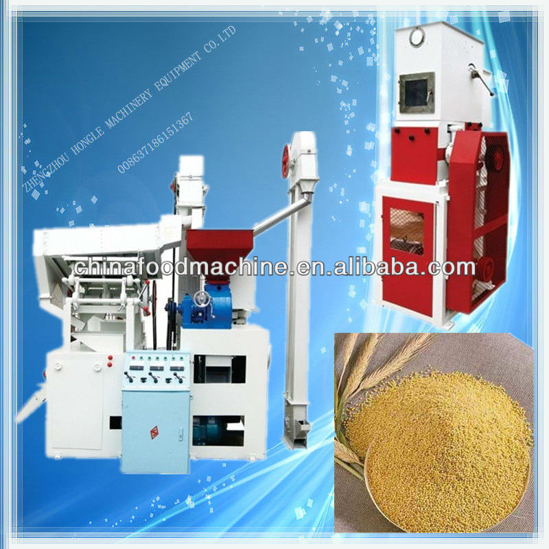 High quanlity millet processing machinery/rice miller