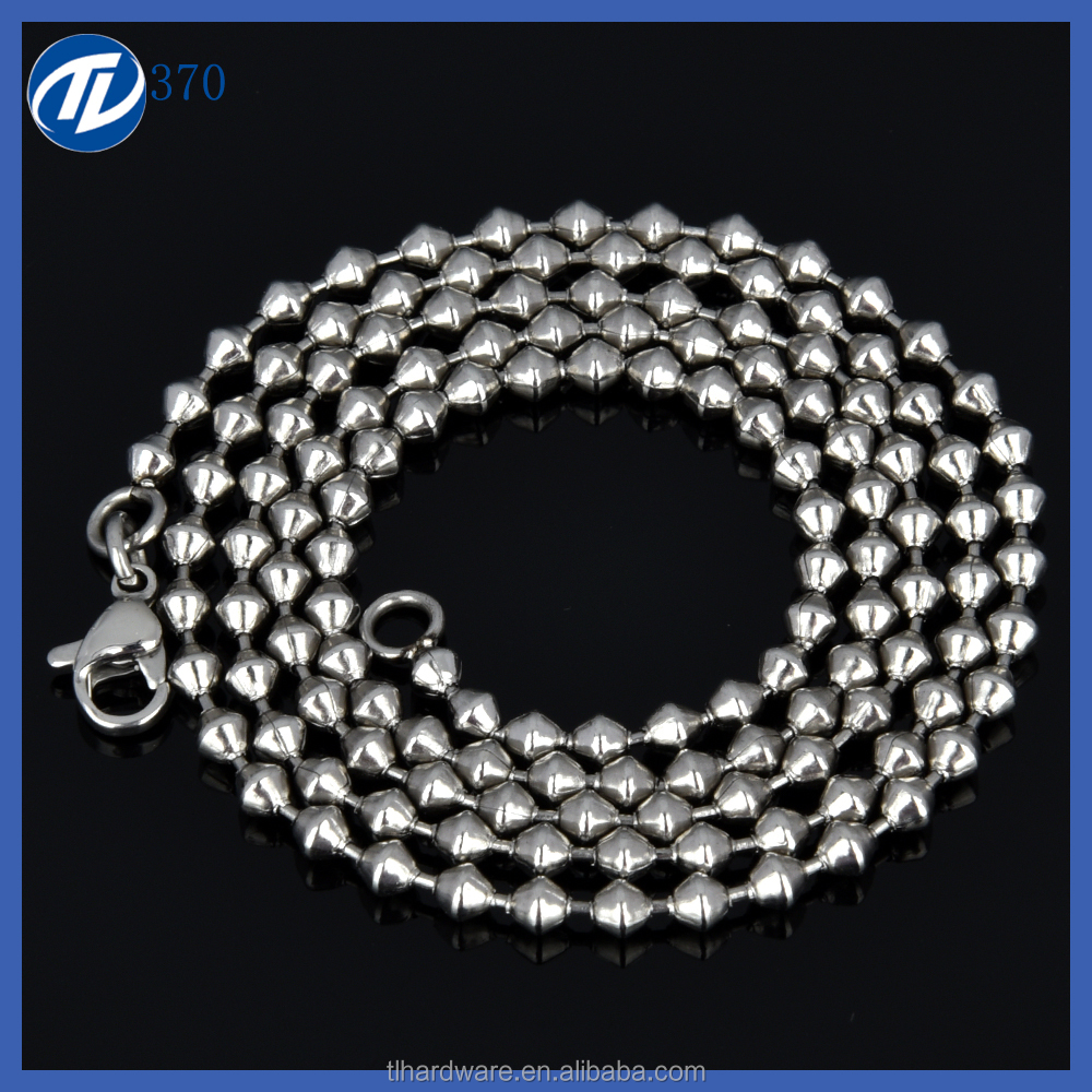 Stainless Steel Jewelry Main Material and Chains Necklaces Type ball chain