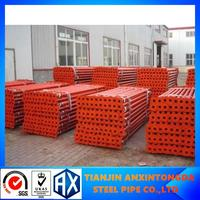 48.3mm galvanized scaffolding tubes industry escape stair 3 way elbow pipe fittings