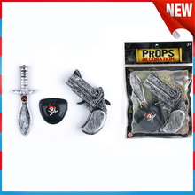 Prirate Gun Black Eye Patch Toys Boy Play Set Halloween Decorations