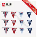 cheap custom made polyester country hanging string flags bunting flags