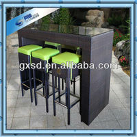 Wholesale alibaba outdoor furniture weave rattan high bar stool