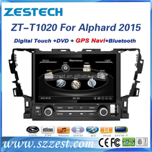 ZESTECH A8 chipset car gps navigation for Toyota 10.2 inch Alphard 2015 car audio with Bluetooth SWC 3G WIFI Exporter