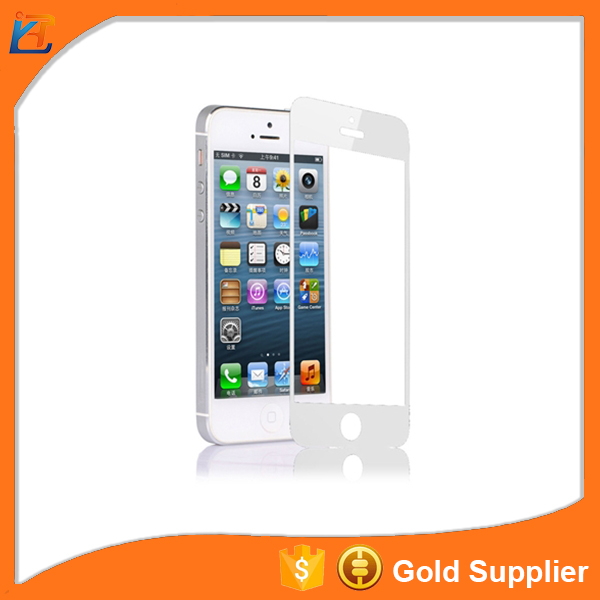 Custom made air bubble remove tempered glass screen protector for iphone 5c