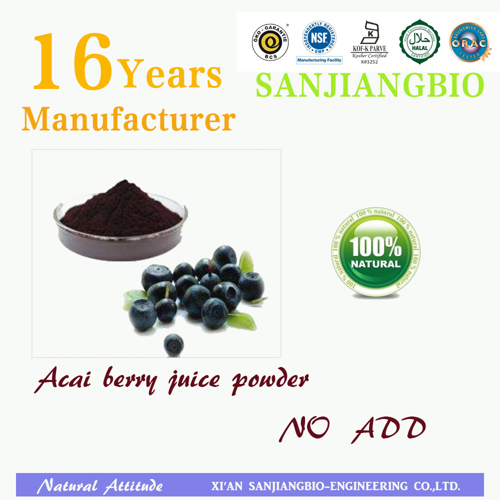GMP factory supply water soluble Acai Berry juice powder ,Acai Berry extract 10:1
