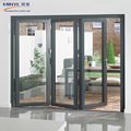 China Brand MINYE Hot Selling Outdoor Bi-Folding Doors Exterior Aluminum Accordion Doors