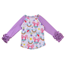 Wholesale Baby Clothing 3/4 Long Sleeve T Shirt For Baby Girl Cotton