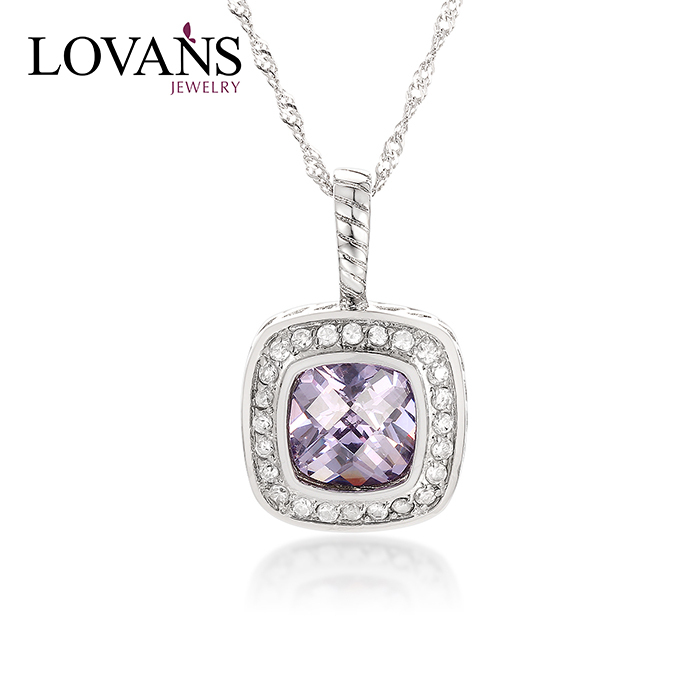 Hot Sale Stainless Steel Jewelry CZ Gemstone Pendant Y25012