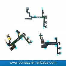 Power On Off and volume button flex cable For iphone5 5c 5s