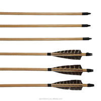 "Bulk Wood Arrow 33"" 8mm Cedar Wood Laminated Wood Arrow Shafts"