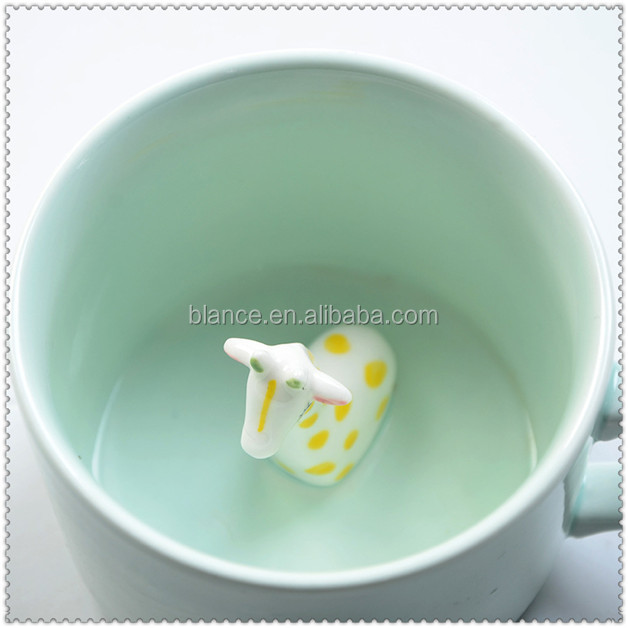 ceramic giraffe mug in giraffe design cup