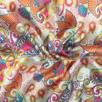 2017 Wholesale Custom digital print 100% 100 pure washable silk tulle fabric