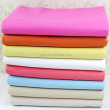 TC fabrics polyester/cotton blend plain woven white and dyed fabrics