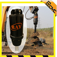 Hydraulic earth dauger drill filling machine and earth drill digging tools