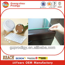 Self adhesive glass table bumper cushion pads
