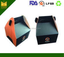 popular customized window disposable paper cake packing box