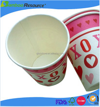 Custom printed Disposable insulated 270-290ml 8oz paper cup