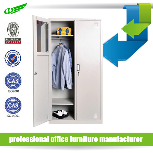 hot selling school and office metal 2 door clothing steel locker / wardrobe