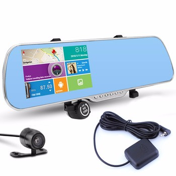 5 Inch GPS Navigation Rearview Mirror Special Car <strong>DVR</strong> 1080P Full HD Dual Lens Camera touch screen for android