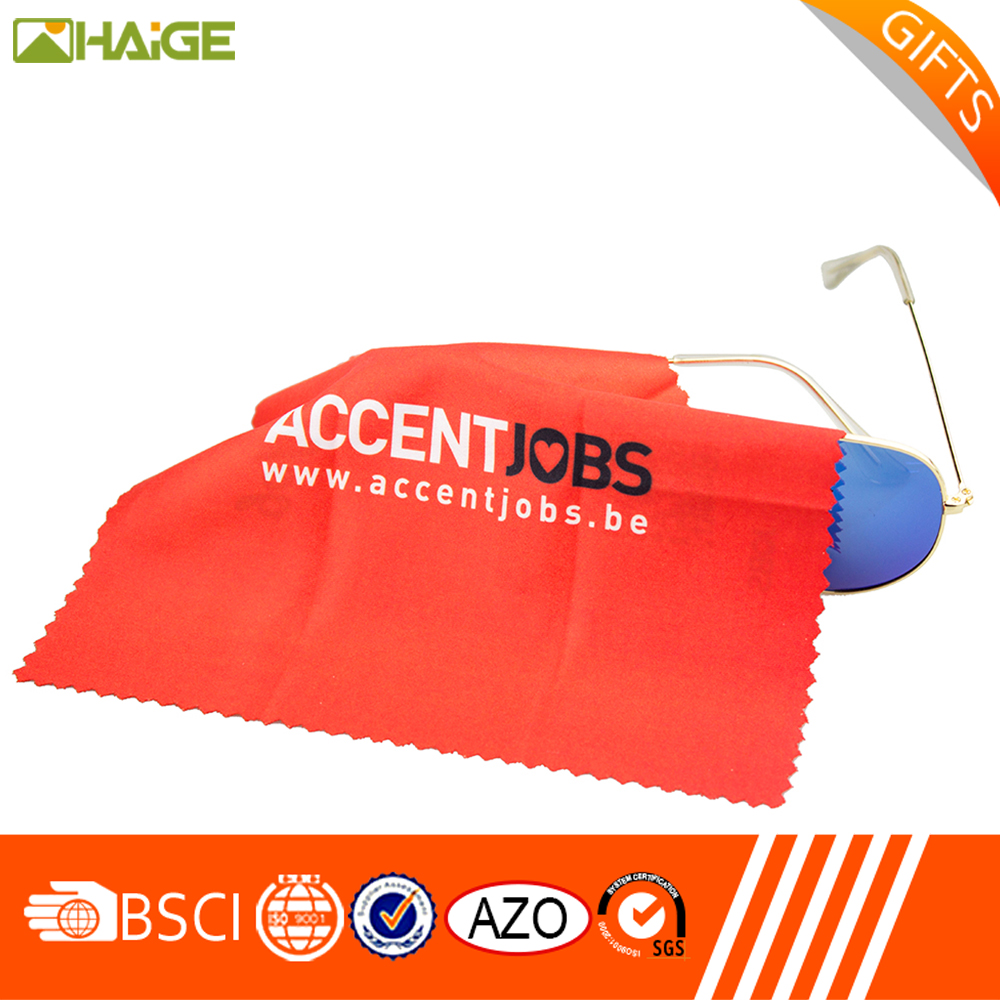 made in China 2 c printing soft glasses cleaning cloth with low price