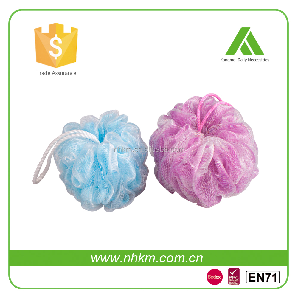Work with any shower gel Customized size Compressed bath balls