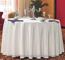 White factory sale 120 Inch polyester Table cloth,Wedding,Home,Party,Banquet,Hotel,Outdoor Use and Woven Technics table cloth