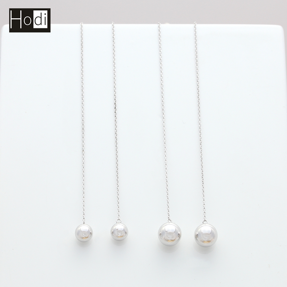 6.0mm 8.0mm Fashion Jewelry Bulk Wholesale Silver Ball Drop Earring 925 Sterling Women Daily Wear Earring