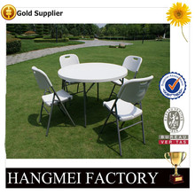 4ft plastic camping folding round table