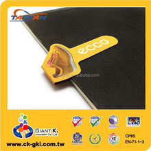 Fashionable brand promotional giveaways shoes shape magnetic bookmark