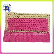 Hot sale paper straw clutch bag
