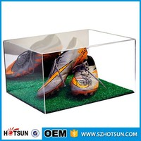 Wholesale clear acrylic shoe display case, plexiglass shoes box for store