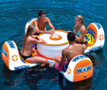 Hot sale swimming pool game table inflatable floating table and chair for water games