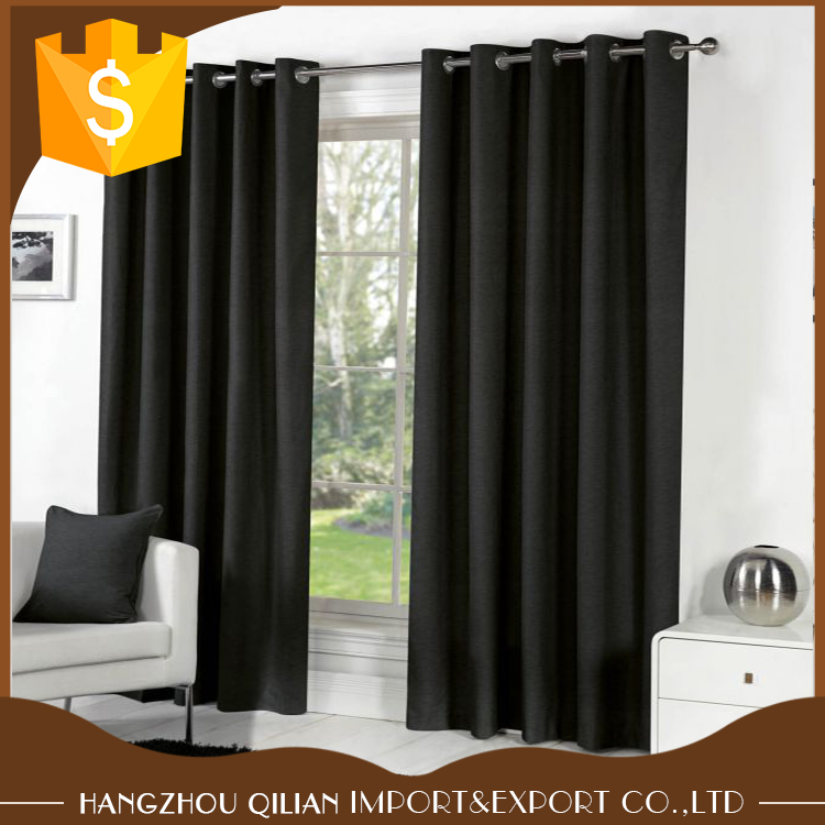 100% Polyester Top Quality Faux Silk Lined Red Tape Top Curtains In Stock