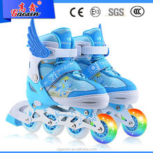 GX-1508 Popular PVC wheels Adults Low price flashing skating shoes