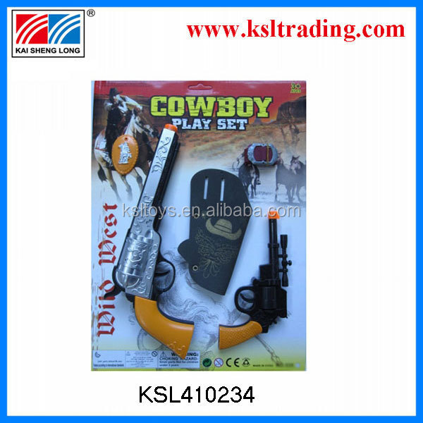 super wild west gun cowboy toy with leather holster for boy