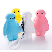Super hero baymax 3D cartoon students cool zipper pencil cases&bags