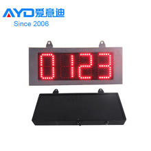 Double Side 12 Inch Red Outdoor LED Panel 4 Digit 7 Segment Display